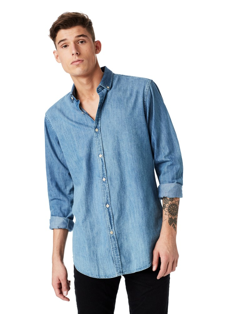 Denim Skjorte, Oversized /